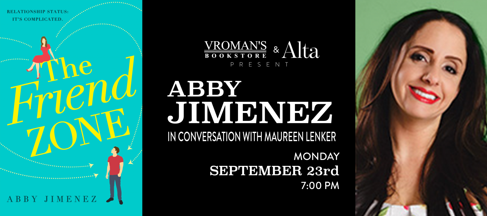 Abby Jimenez book signing Monday September 23rd at 7pm