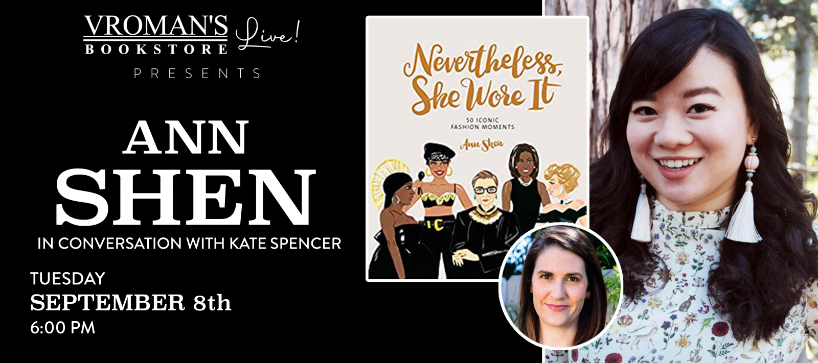 Vroman's LIve presents Ann Shen, in conversation with Kate Spencer, on Tuesday September 8th at 6pm