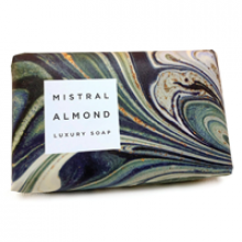 Image of Almond Marble Soap (dark green, white and black marble)