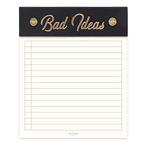 image of Bad Ideas Notepad