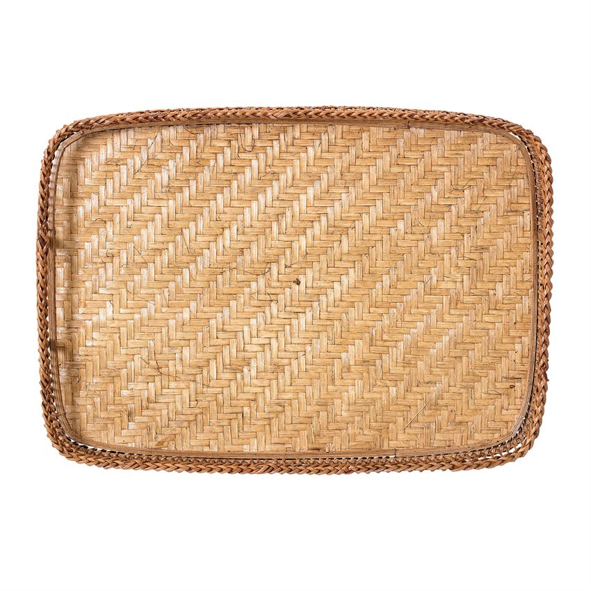 Image of Bamboo Tray w/Handles Top View