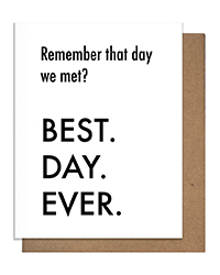 image of Best Day Ever birthday card