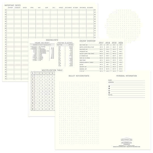 image of Black Standard Issue Dot Grid Journal other pages