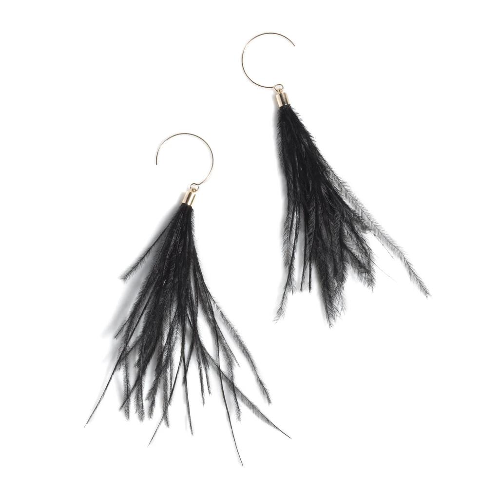 Image of Black Vivi Earrings