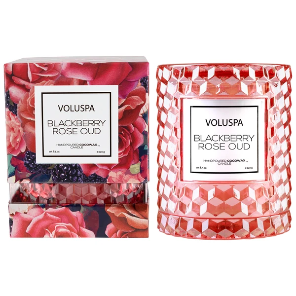 Blackberry Rose Oud Cloche Candle