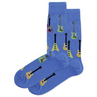 Image of Blue Electric Guitars Men's Crew Socks