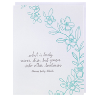 Image of Blue Flowers Card
