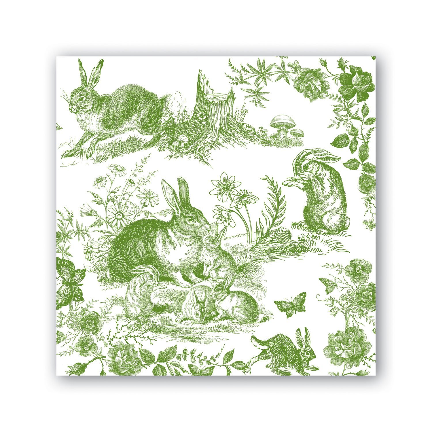 Image of Bunny Toile Cocktail Napkins