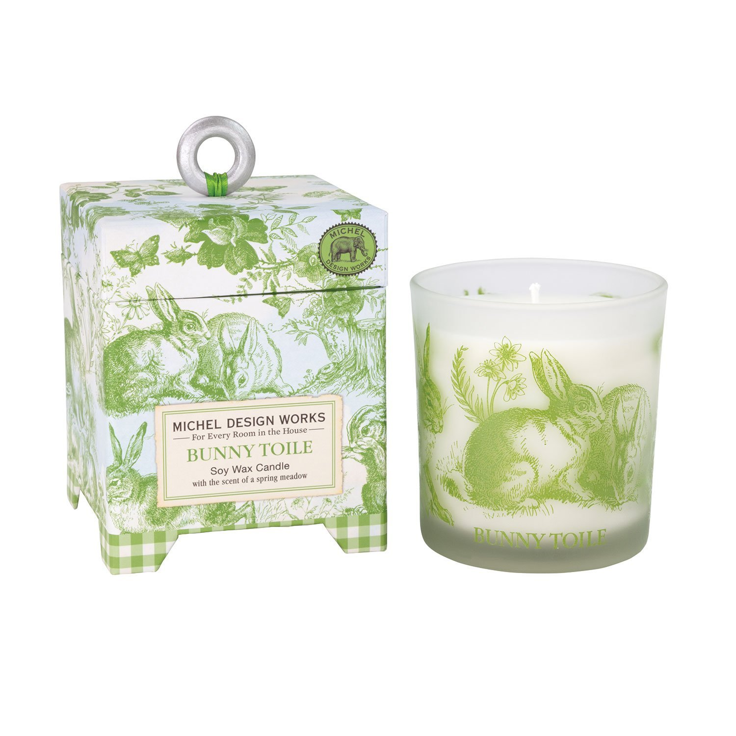 Image of Bunny Toile Soy Wax Candle