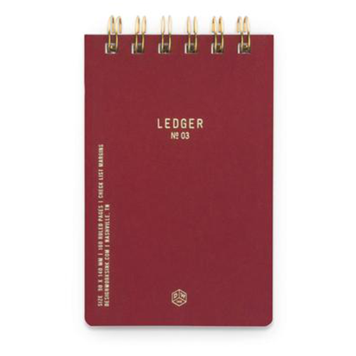 image of Burgundy Twin Wire Small Notebook cover