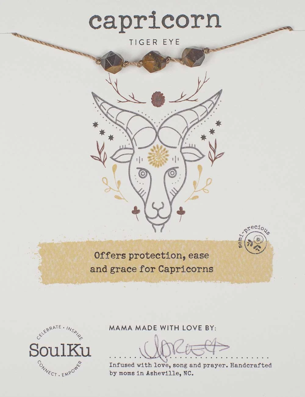 Capricorn Tiger Eye Necklace Package