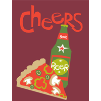 Image of Cheers Birthday Card