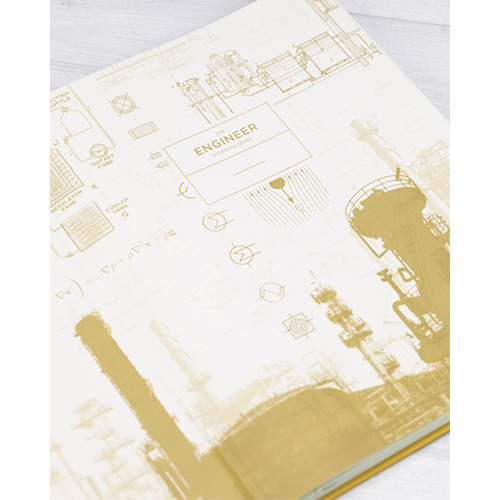 image of Chemical Engineering Hardcover Bound Journal inside