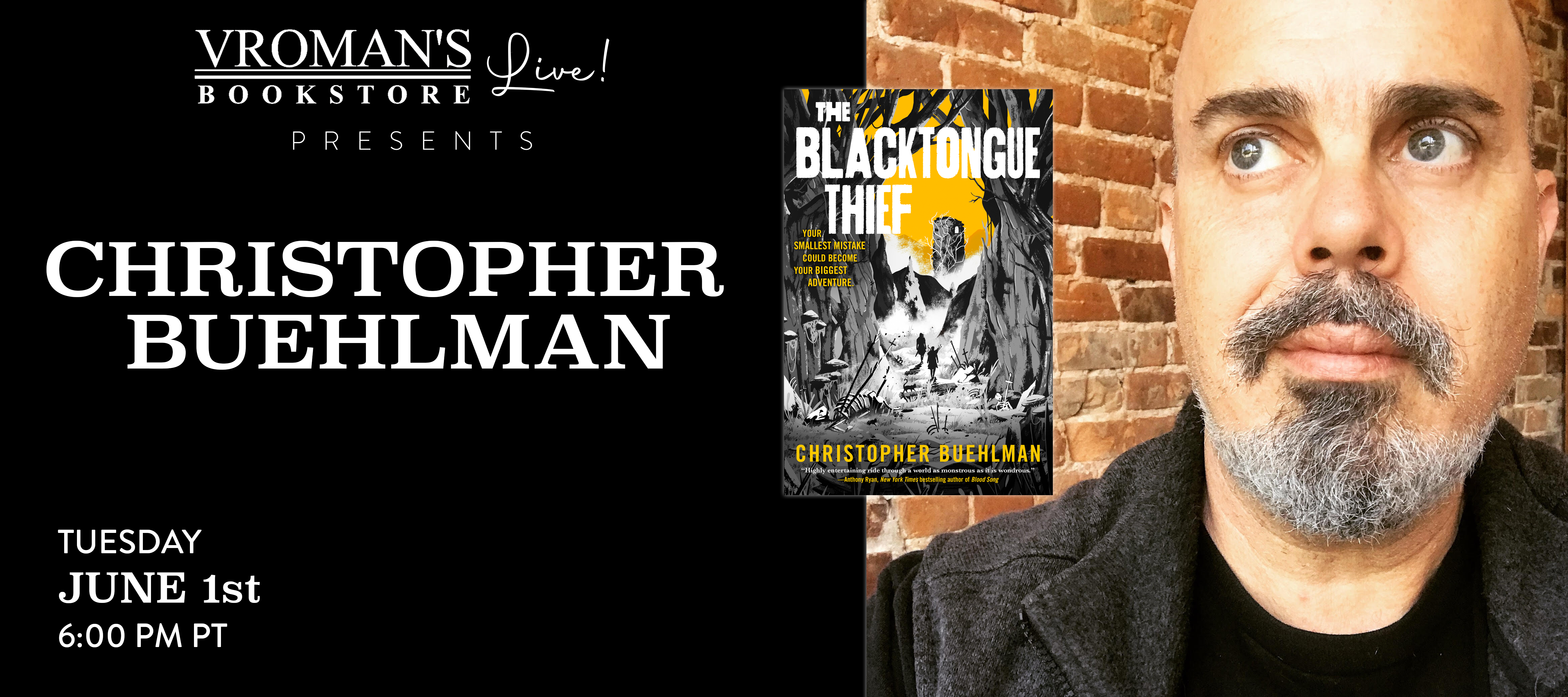 Image of Christopher Buehlman and book