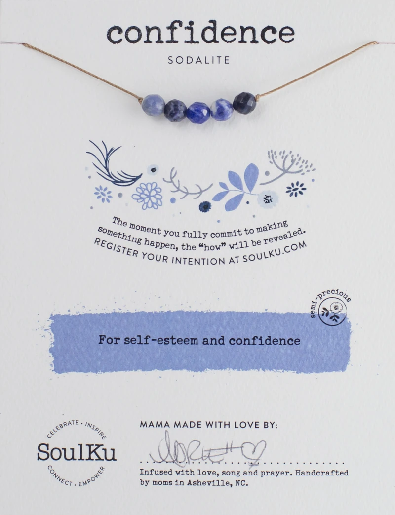 Image of Confidence Intention Package Necklace