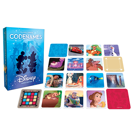 image of Disney Codenames game components