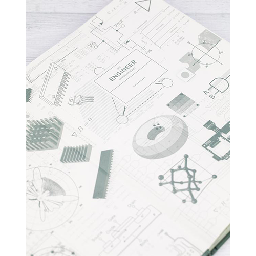 image of Electrical Engineering Hardcover Bound Journal inside cover design