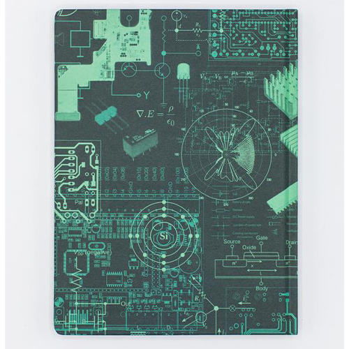 image of Electrical Engineering Hardcover Dot Grid Journal back