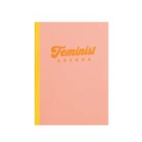 Image of Feminist Agenda Peach Notebook