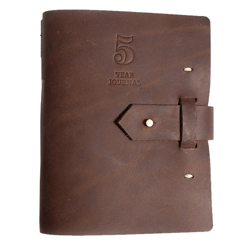 image of Five Year Journal, Dark Brown