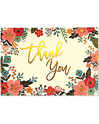 image of  Floral Frame Boxed Thank You Cards