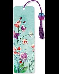 image of Fuchsia Blooms Beaded Bookmark
