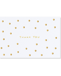 image of Gold Dots Boxed Thank You Cards