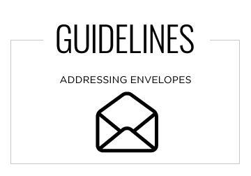 Guidelines: Addressing Envelopes