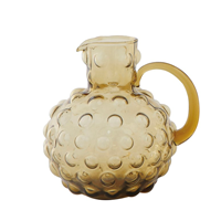 Image of Glass Hobnail Pitcher, Amber