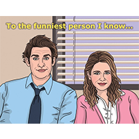 image of Jim and Pam love greeting card