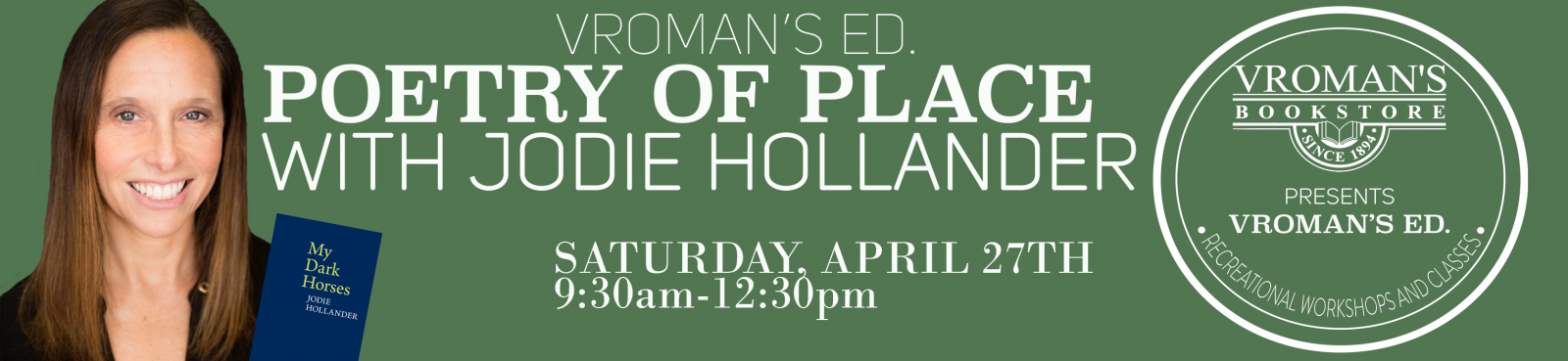 Poetry of Place Writing Workshop with Jodie Hollander