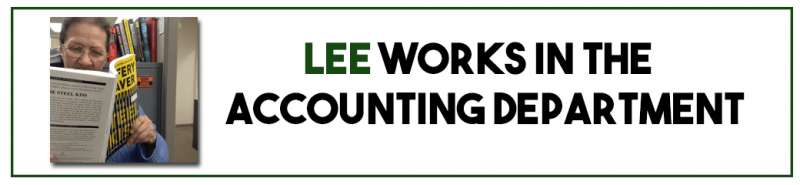 Lee works in the accounting department