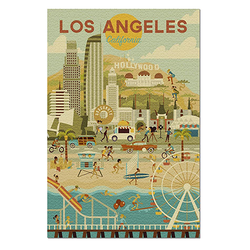 image of Los Angeles Geometric Puzzle