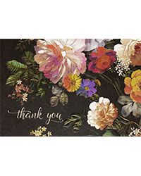 image of Midnight Floral Boxed Thank You Cards