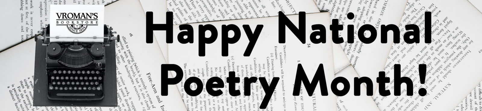 Happy National Poetry Month!