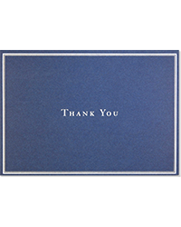 image of Navy Blue Boxed Thank You Cards