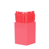 Image of Neon Coral Jotter Gel Pens in Coral Cup