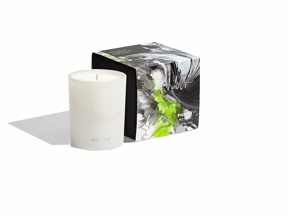 Image of Currant Noir Candle 8.5oz. and Box