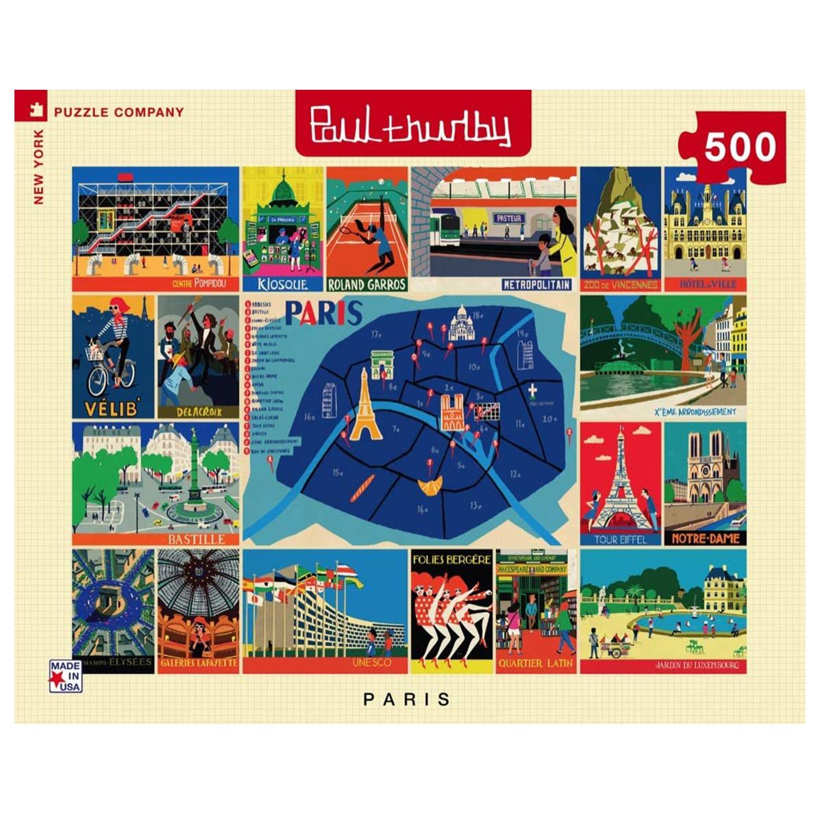 image of Paris Thurlby Collage Puzzle