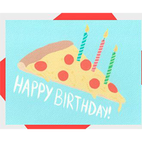 Image of Pizza Cake Card