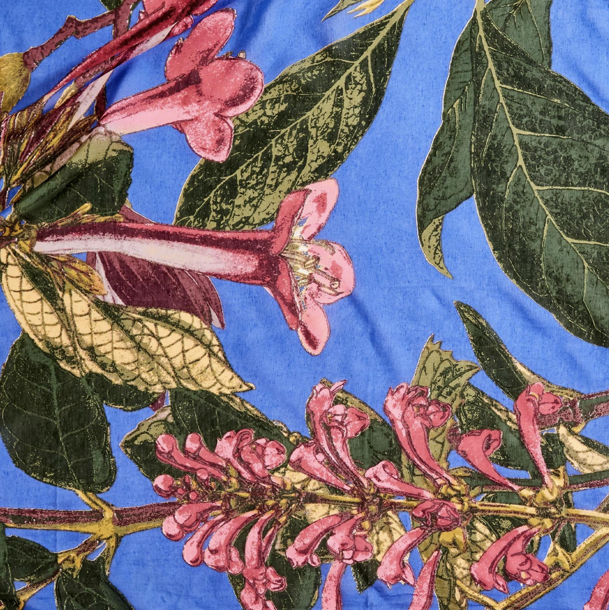 Image of Purple Magnolia Long Kimono Design