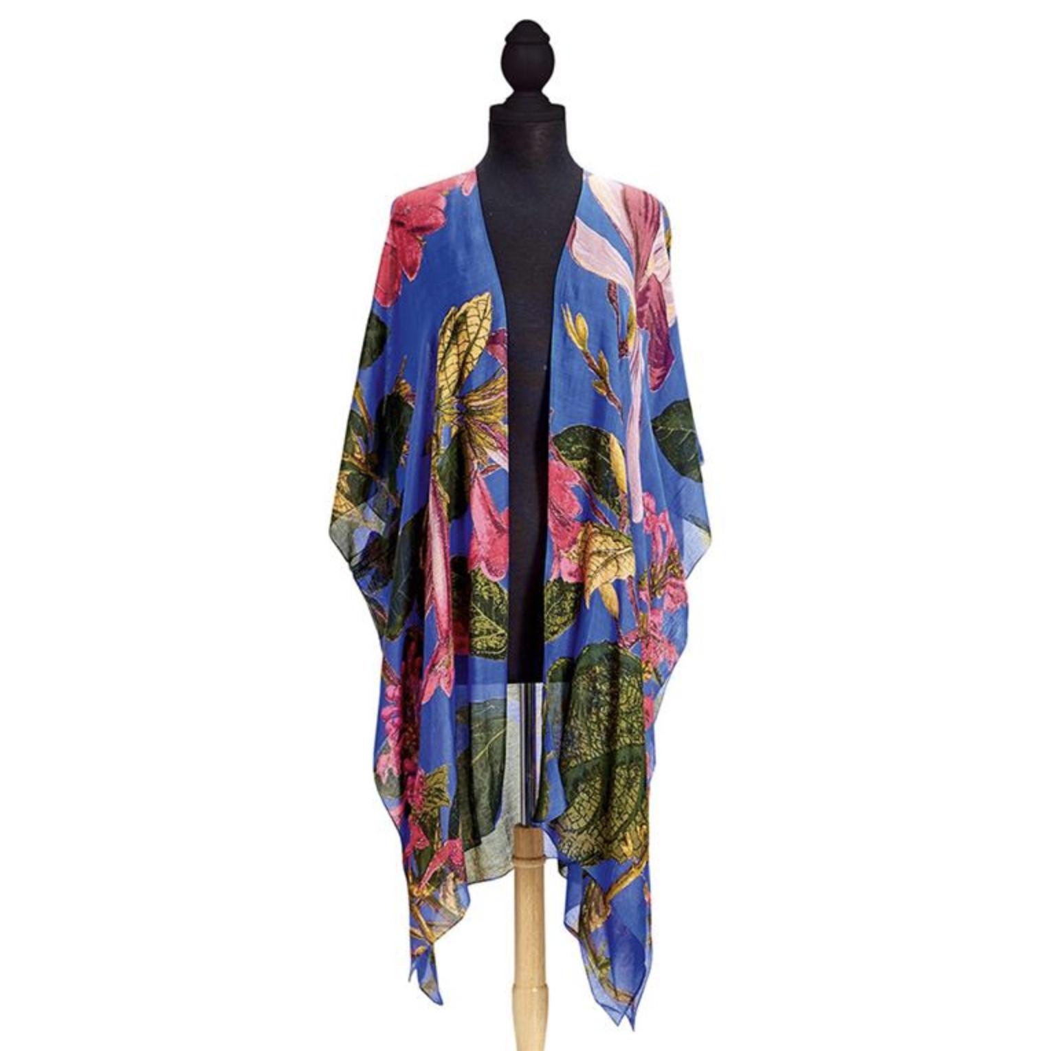 Image of Purple Magnolia Long Kimono