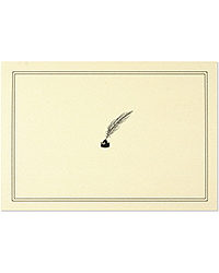 image of Quill Pen & Ink Boxed Note Cards