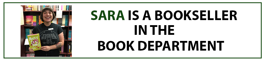 Sara is a bookseller in the books department