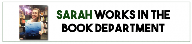 Sarah works in the book department