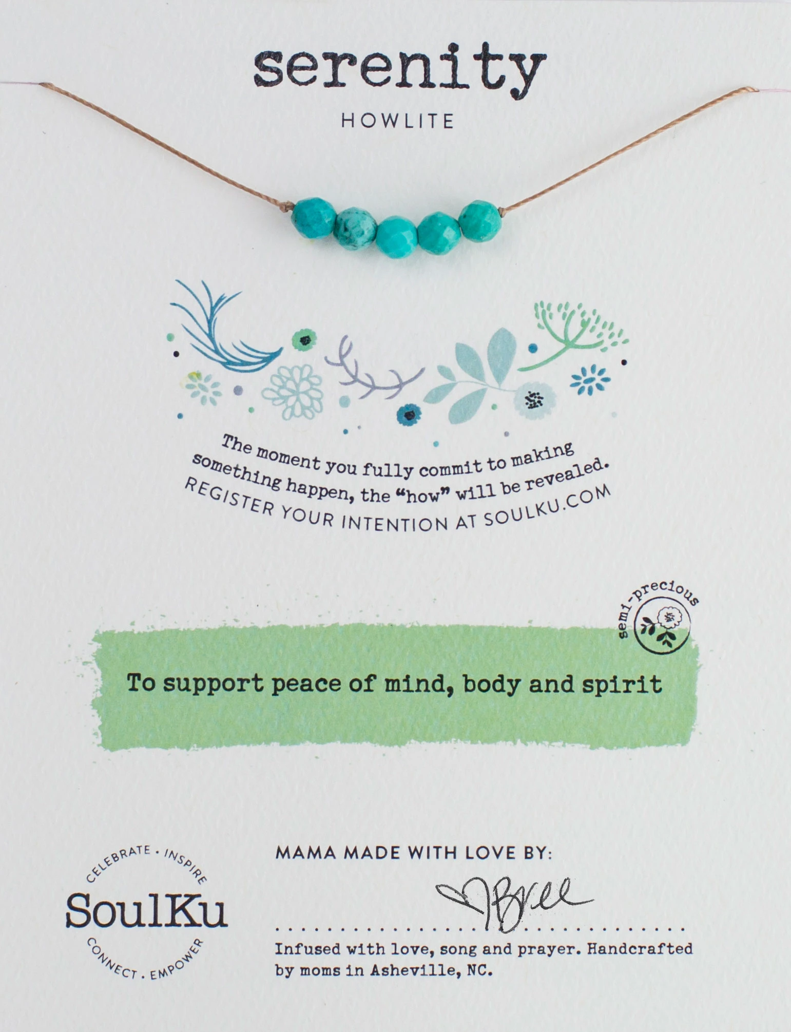 Image of Serenity Intention Necklace Package
