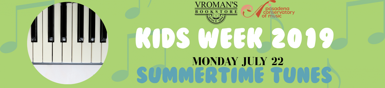 Kids Week - Music Activity Sunday July 22 at 11am