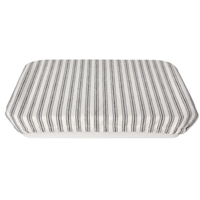 Image of Ticking Stripe Baking Dish Cover, covering pan