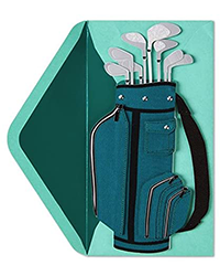 image of Golf Bag birthday card