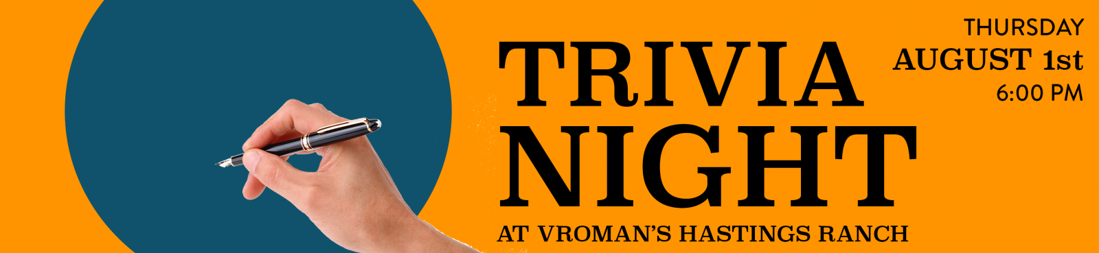 Trivia Night at Vroman's Hastings Ranch Thursday August 1st at 6pm